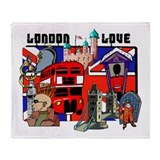 London Love Throw Blanket