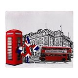 London Fashion Capital Throw Blanket