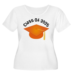 Class of 2025 (Orange) Women's Plus Size Scoop Nec