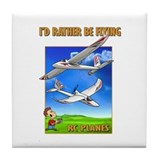 Sky Surfer Rather Be Flying Tile Coaster