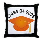 Class of 2028 (Orange) Throw Pillow