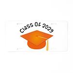 Class of 2029 (Orange) Aluminum License Plate