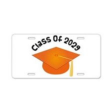 Class of 2029 (Orange) Aluminum License Plate