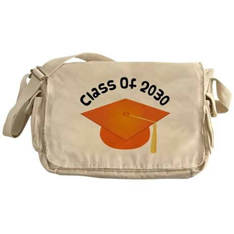Class of 2030 (Orange) Messenger Bag