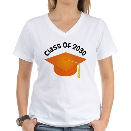 Class of 2030 (Orange) Women's V-Neck T-Shirt