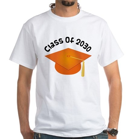 Class of 2030 (Orange) White T-Shirt