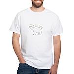 carbon neutral polar bear White T-Shirt