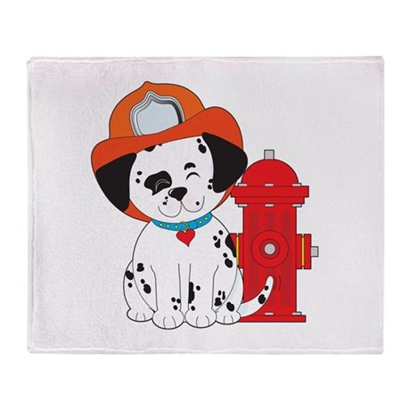 Dalmation Fire Dog Throw Blanket