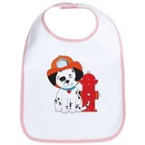 Dalmation Fire Dog Bib