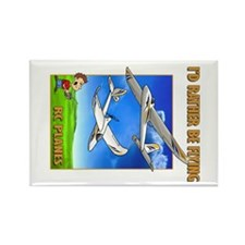 Bixler Rather Be Flying Rectangle Magnet