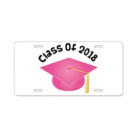 Class of 2018 (Pink) Aluminum License Plate