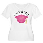 Class of 2021 (Pink) Women's Plus Size Scoop Neck
