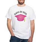 Class of 2021 (Pink) White T-Shirt