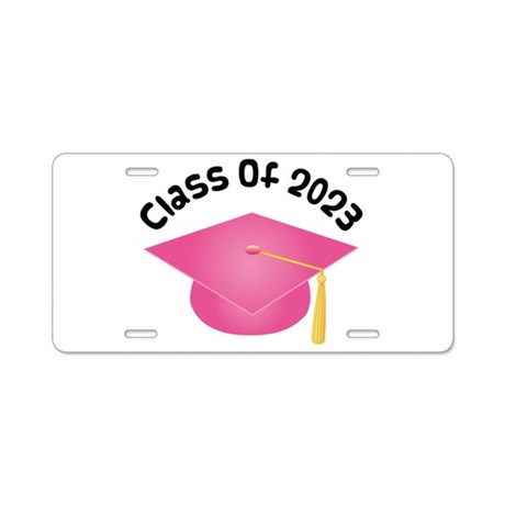Class of 2023 (Pink) Aluminum License Plate