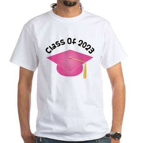Class of 2023 (Pink) White T-Shirt