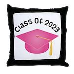 Class of 2023 (Pink) Throw Pillow