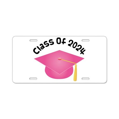 Class of 2024 (Pink) Aluminum License Plate