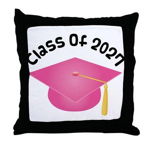 Class of 2027 (Pink) Throw Pillow
