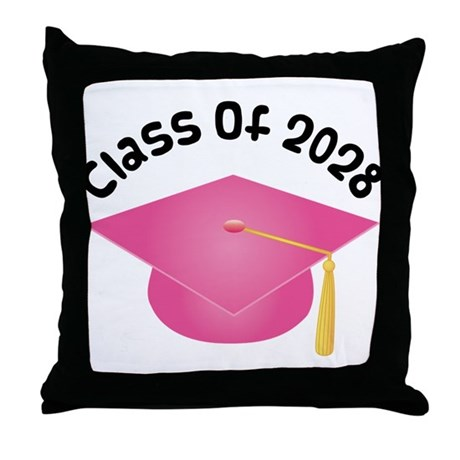Class of 2028 (Pink) Throw Pillow