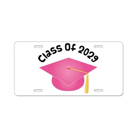 Class of 2029 (Pink) Aluminum License Plate
