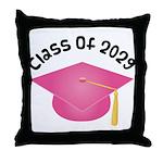 Class of 2029 (Pink) Throw Pillow