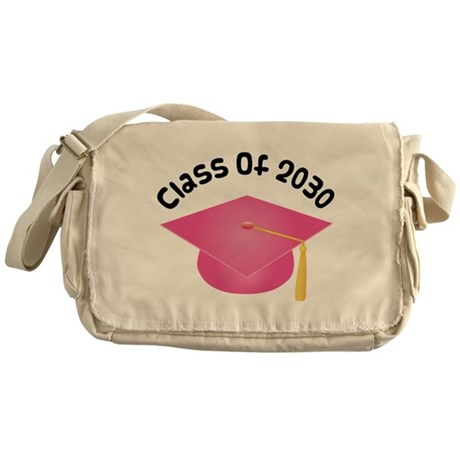 Class of 2030 (Pink) Messenger Bag