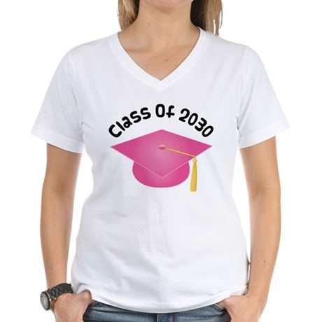 Class of 2030 (Pink) Women's V-Neck T-Shirt