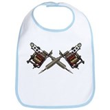 Twin Tattoo Needles Bib