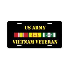 Army Vietnam Vet 3 Star Aluminum License Plate