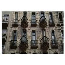 Low angle view of a building, Casa Calvet, Barcelo