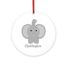 Personalized Elephant Design Ornament (Round)