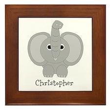 Personalized Elephant Design Framed Tile