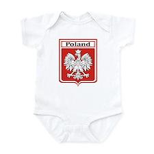 Poland Soccer Shield Infant Creeper