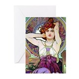 Mucha Amethyst Greeting Cards (Pk of 10)