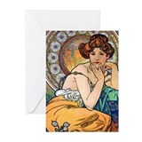 Mucha Topaz Greeting Cards (Pk of 10)