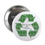 """Green is Chic 2.25"""" Button"""