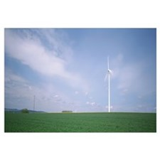 Germany, Wind turbine in the field