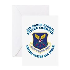 Air Force Global Strike Cmd with Text Greeting Car