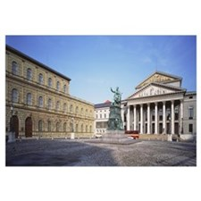 Germany, Munich, Max Josef Square and Opera