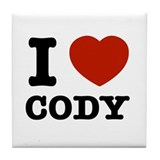 I love Cody Tile Coaster