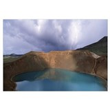 Iceland, Myvatn Lake, Krafla Volcano, Lake on the