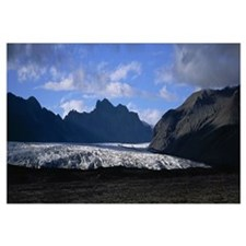 Iceland, Skaftafell National Park, Snow in the nat