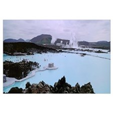 Iceland, Reykjavik, Blue lagoon, People in the hot