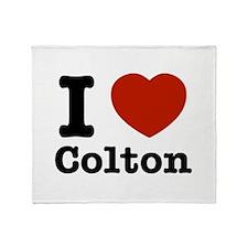 I love Colton Throw Blanket