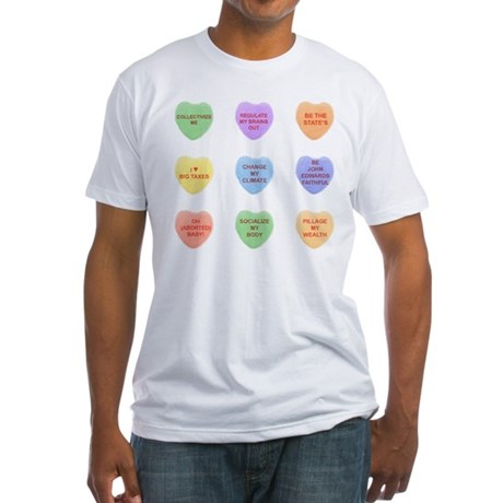 Liberal Candy Hearts Fitted T-Shirt