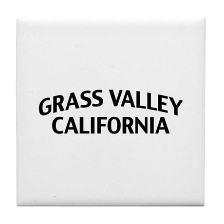 Grass Valley California Tile Coaster