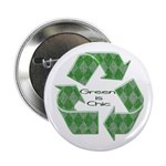 """Green Chic 2.25"""" Button (10 pack)"""