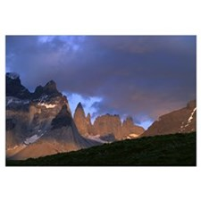Chile, Torres Del Paine National Park, Storm cloud
