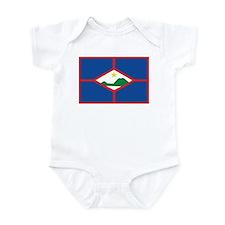 Sint Eustatius Flag Infant Bodysuit