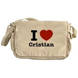 I love Cristian Messenger Bag